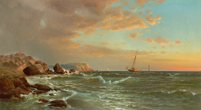 , 'Sailing at Twilight,' 1877, Questroyal Fine Art