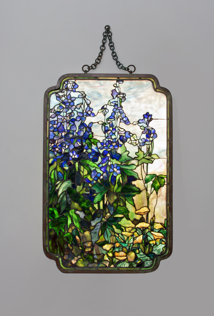, 'Rare 'Delphinium and Poppy' Transparency Panel ,' ca. 1910, Lillian Nassau LLC