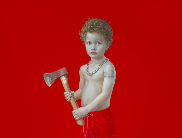 , 'From the Serie PRESENTE PLUSCUAMPERFECTO (Miguel with Axe),' 2016, Victor Lope Arte Contemporaneo