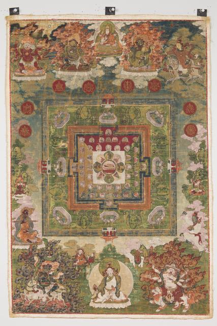 , 'Medicine Buddha Mandala,' 18th century, Rubin Museum of Art