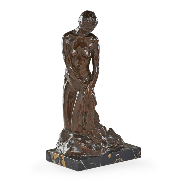 John Edmond Cluysenaar, 'Untitled (Female Nude)', Sculpture, Bronze, marble base, Rago/Wright