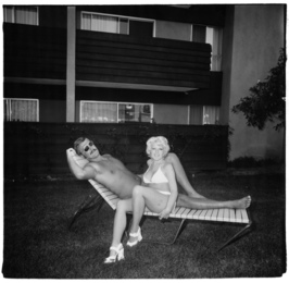 South Bay Singles Club, couple on a chaise lounge 1970