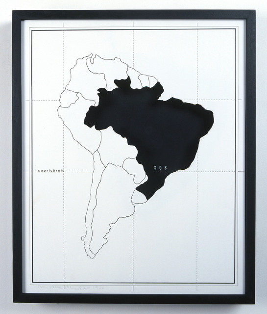 , 'S.O.S. no Trópico de Capricórnio, da série Mapas Mentais,' 1974, Galeria Millan