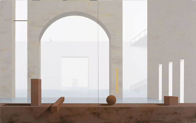, 'Raum 1212 Floß,' 2014, Galerie Hans Mayer