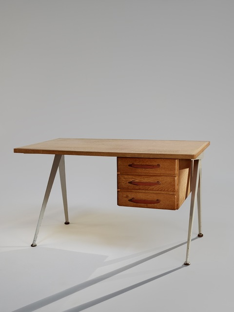 ", '""Compass"" Desk,' ca. 1950, Galerie Downtown - François Laffanour"