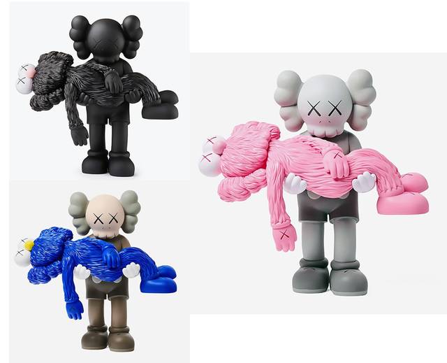 KAWS, 'KAWS GONE: Complete Set of 3 (KAWS GONE companions)', 2019, Lot 180