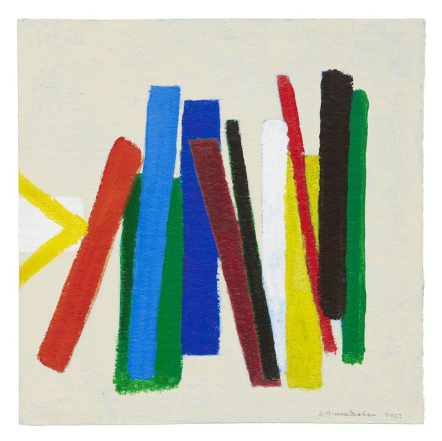 Wilhelmina Barns-Graham, 'Enter Red on Blue and Green', 2003, Painting, Acrylic on paper, Waterhouse & Dodd
