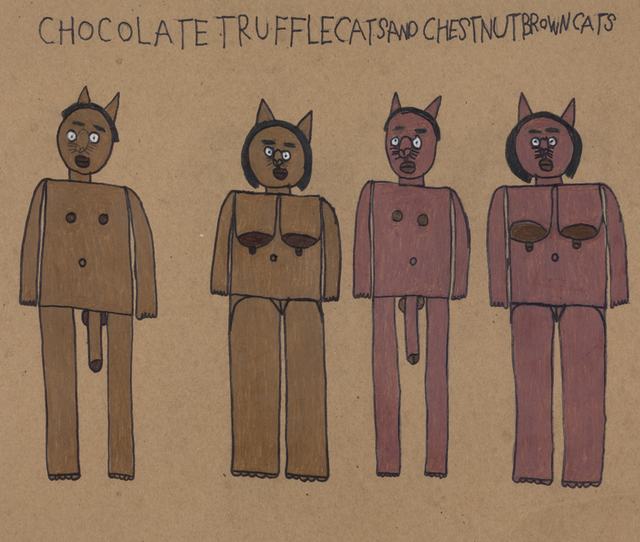 , 'Chocolate Truffle Cats and Chestnut Brown Cats,' 2018, Creativity Explored
