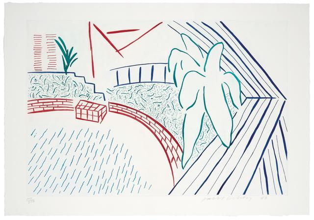 David Hockney, 'My Pool and Terrace', 1983, Los Angeles Modern Auctions (LAMA)