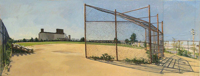 Rackstraw Downes, 'Baseball Field in Red Hook from Campo Uno, No. 4', 2002, Betty Cuningham