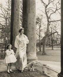 Duchess with Daughter and Whippet