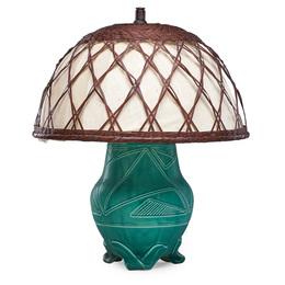 Z-line vase made into a lamp, Cincinnati, OH