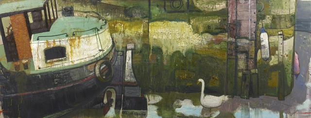 , 'Barge-stern & Mooring Wall,' 2015, John Martin Gallery