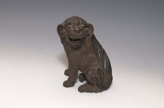 , 'Unglazed Lion Dog,' Early 20th century-attributed to Huo Jin, Art Museum of the Chinese University of Hong Kong