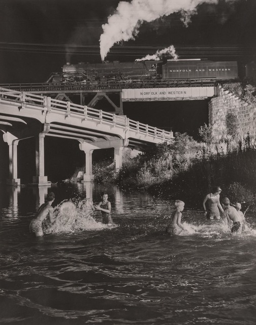 O. Winston Link, '[Hawksbill Creek Swimming Hole, Luray, Virginia, with No. 96 Northbound, 1956]', Doyle