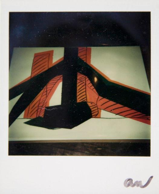 Andy Warhol, 'Andy Warhol, Polaroid Photo of a Hammer & Sickle Painting Detail (Black and Orange), 1977', 1977, Hedges Projects