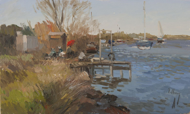 , 'Fisherman on the Dock,' , Gallery 901