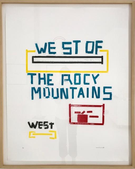 , 'WEST OF ROCY MOUNTAINS,' 1996, Brigitte March International Contemporary Art