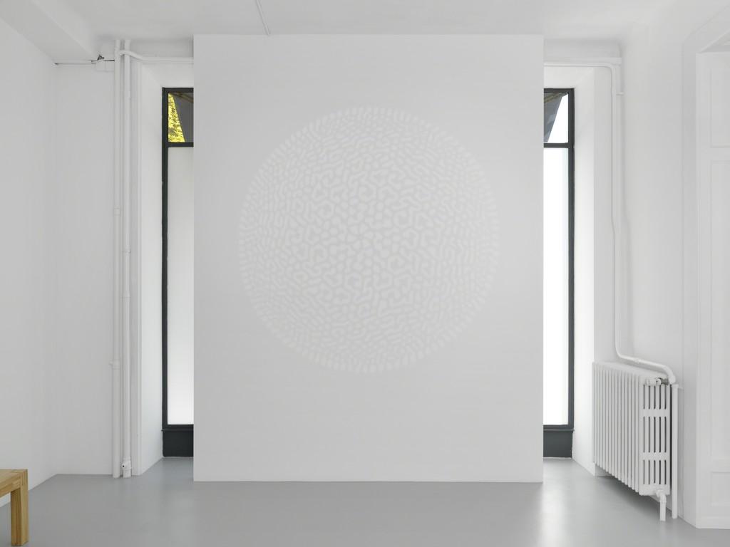 "Exhibition view, Céleste Boursier-Mougenot, ""Solidvideo"", Galerie Xippas, Geneva, Switzerland, 2017. ©Annik Wetter"