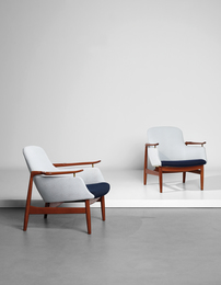 Pair of easy chairs, model no. FJ 53