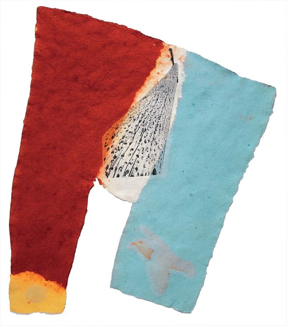 Robert Rauschenberg, 'Link (Fuses)', 1974, Handmade paper, pigment, and screenprinted tissue laminated to paper pulp, Robert Rauschenberg Foundation