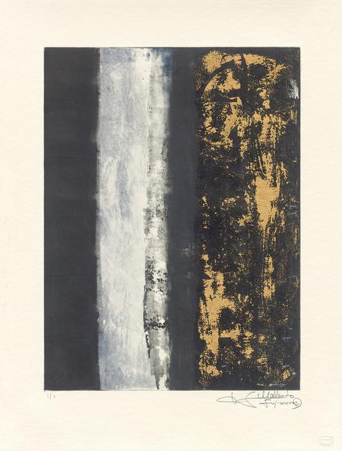 Makoto Fujimura, 'Van Nuys Monotype Series No. 6 凡奈斯絹印單刷系列', 2017, Print, Monotype with print ink, Gold, Japanese Mica, Mineral Pigments 絹印單刷版畫, 金箔, 日本雲母, 天然礦物顏料, 紙, Artrue Gallery