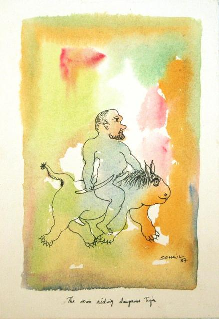 , 'The man riding dangerous tiger,' 1987, The Noble Sage Collection