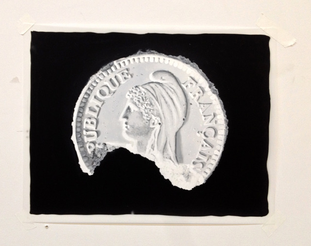 , 'Study of The Eroded French Franc Front,' 2013, Galerie Ron Mandos