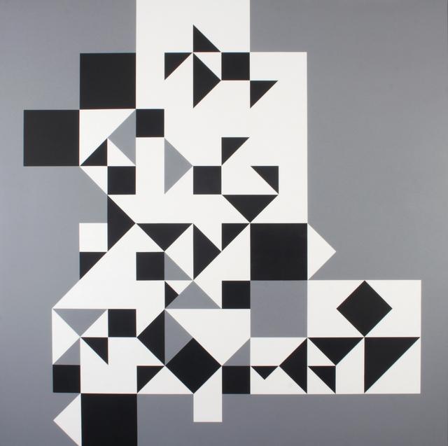 , 'Sobre retícula blanco, negro, gris,' 1958, Galeria Nara Roesler