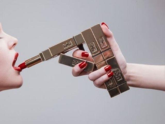Tyler Shields, 'YSL Lipstick Gun', ca. 2015, Photography, Chromogenic Print on Kodak Endura Luster Paper, Isabella Garrucho Fine Art