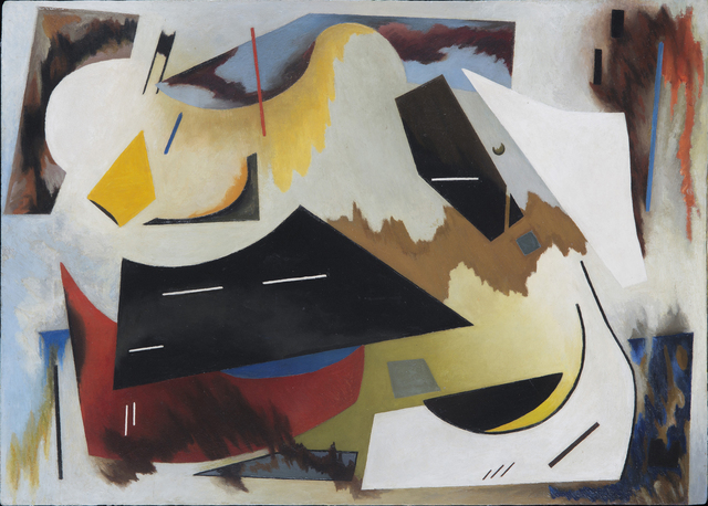Alice Trumbull Mason, 'Colorstructive Abstraction (white, black, red, blue & yellow)', 1944, Painting, Oil on masonite, Washburn Gallery
