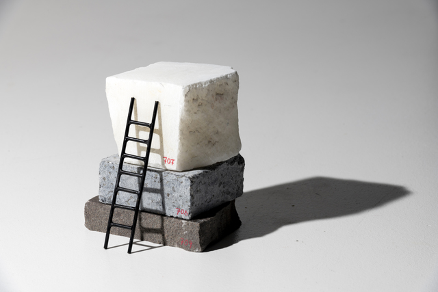 Adeline de Monseignat, 'Stack Sample VII ', 2019, Sculpture, Marble, Limestone and Patinated Bronze, bo.lee gallery