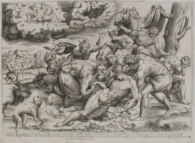 , 'The Death of Meleager,' 1543, Jan Johnson Old Master & Modern Prints