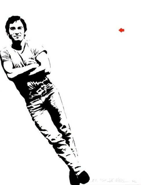 Jef Aérosol, 'Bruce Springsteen', 2012, AYNAC Gallery