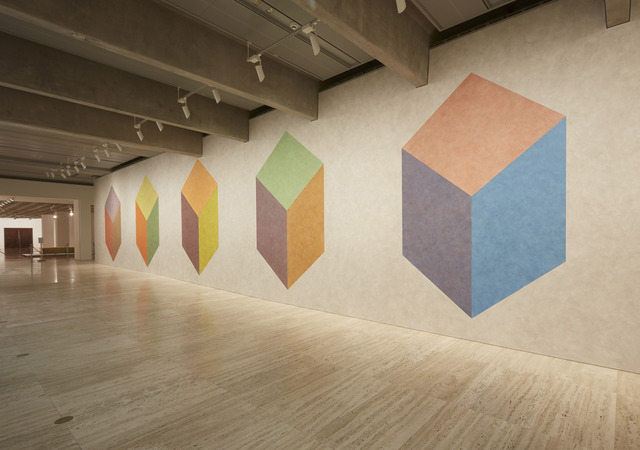, 'Wall Drawing 604H, cubic rectangle with color ink washes superimposed,' 1989, Art Gallery of New South Wales