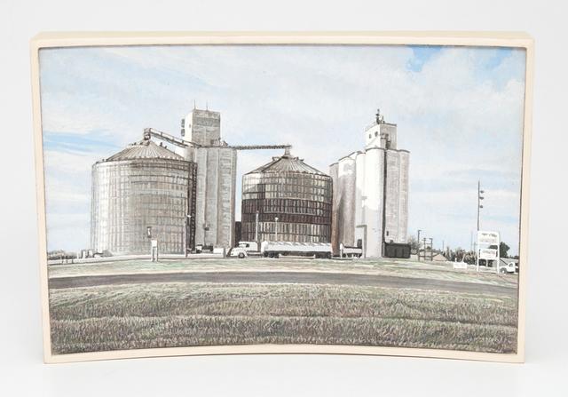 , 'Grain Elevators, Stafford, Kansas, US Highway 50,' 2015, Valley House Gallery & Sculpture Garden