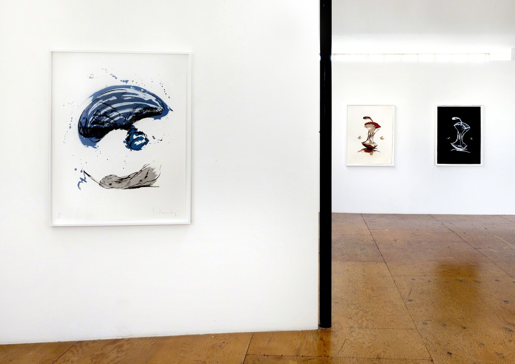Claes Oldenburg, Thrown Ink Bottle with Fly and Dropped Quill (1991), Apple Core - Autumn (1990), Apple Core - Winter (1990)
