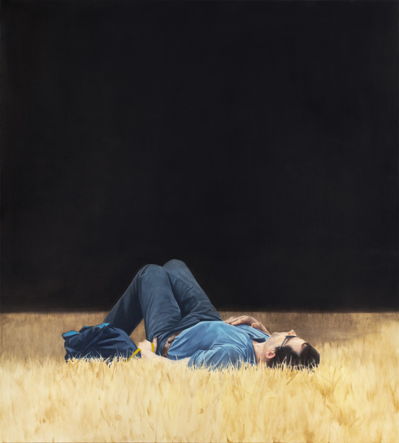 , 'Man Lying in Grass,' 2018, Pace Gallery