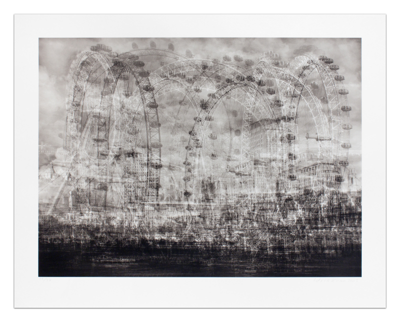 Idris Khan London Eye, from his London series, 2015.