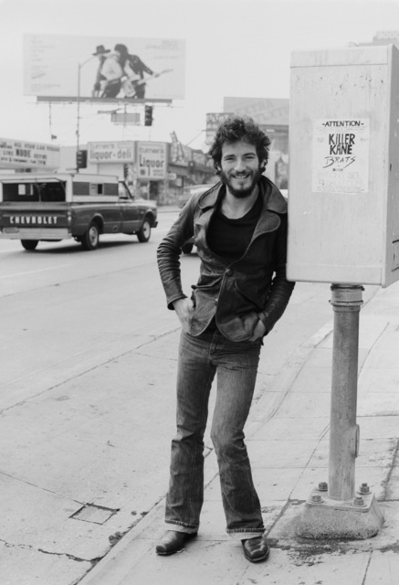 , 'Bruce Springsteen, Hollywood Boulevard, in front of  Born To Run Billboard,' 1975, Gallery 270