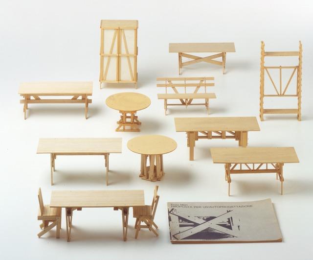 , 'Proposal forun'autoprogettazione models(Proposta perun'autoprogettazione (modellini)),' 1973, Triennale Design Museum