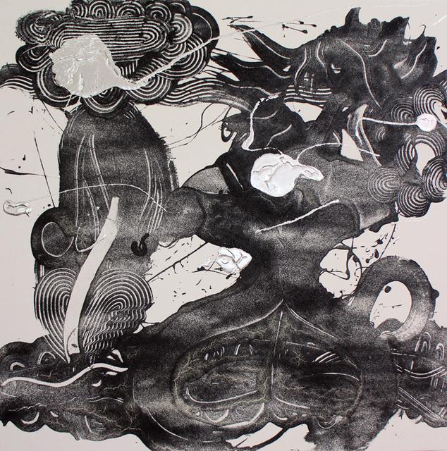 Catherine Howe, 'Carborundum and Silver Painting (Flair)', 2019, Winston Wächter Fine Art
