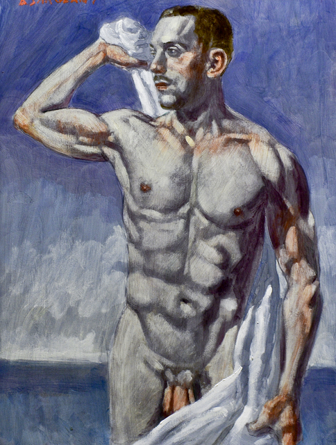 , 'Man Drying Himself with Towel,' date unknown, Carrie Haddad Gallery