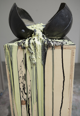 , 'Imploded Ball Barf (wood vs. plywood),' 2011, Nina Johnson