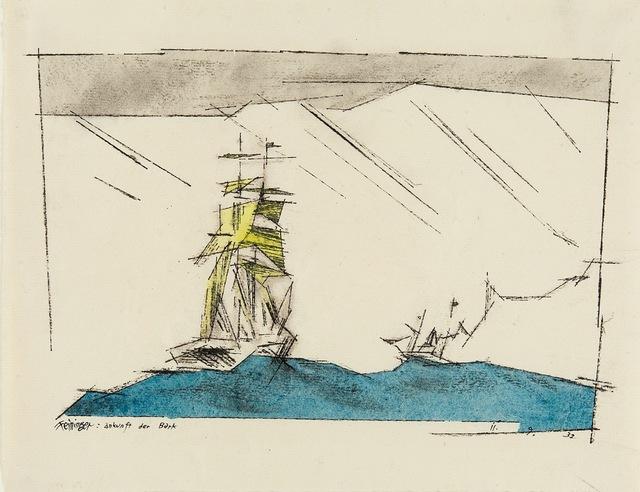 , 'Ankunft der Bark,' 1932, Thole Rotermund
