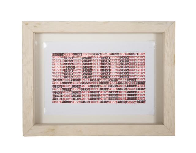 , 'Pequeño muro de lamentación americana (rojo y negro),' 2017, Espacio El Dorado