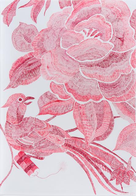 , 'Pájaro Rojo (serie bordados en guerra) ,' 2016, Javier Lopez & Fer Frances