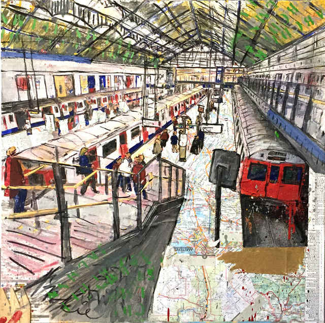 , 'London, Earl's Court Station,' 2017, Name1