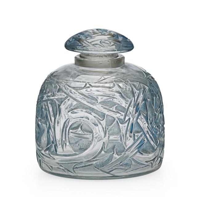 "Lalique, '""Epines No. 3"" Perfume Bottle, France, M P. 343, No. 592, France', 1920s, Rago/Wright"