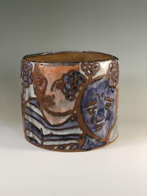 Elizabeth Currer, 'Pot with Figures on Death Valley Clay', 2018, Cerbera Gallery